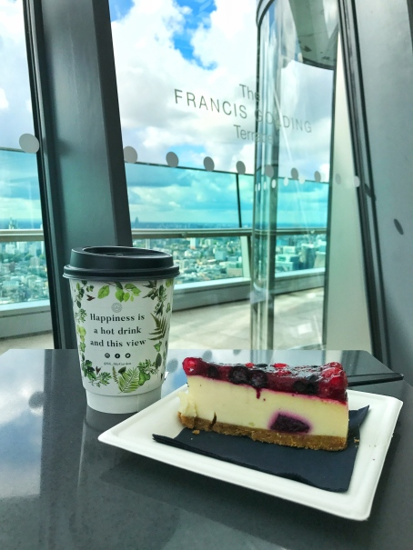 Mint tea & Cheesecake from Sky Garden